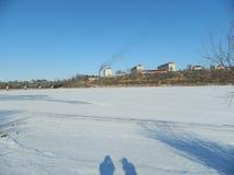 city on a frozen river