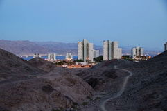 City ​​in the desert. City ​​Eilat on the Red Sea in Israel Royalty Free Stock Images