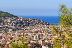 City ​​of Alanya. View from the mountains on the city of Alanya Royalty Free Stock Image