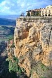 City ​​on rock. ronda Royalty Free Stock Photo