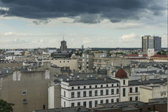 City Łódź in Poland. Panoramic photography , Lodz , town in Poland . Europe.View from the top stock image