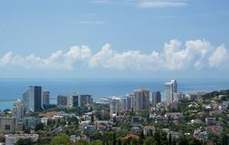 City by the sea buildings general view rest travel stock photo