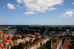 City ​​infrastructure. Panorama of the northern Polish - Gdańsk royalty free stock photo