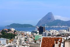 City of Rio de Janeiro with urbanism and nature royalty free stock photography