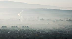 City ��smog Stock Photo
