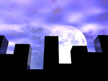 The City 12. This is a simple city cityscape Royalty Free Stock Photography