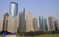 City. New high-rise buildings in Shanghai Pudong Stock Image