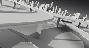The city. 3d illustration for your project Royalty Free Stock Photo