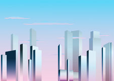 City. Buildings in a city  vector illustration Stock Image