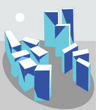 City. Vectorial image of models of multistoried buildings Stock Illustration