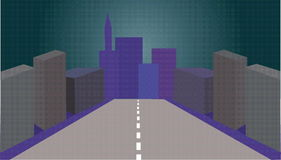 City. Vectorial image of models of multistoried buildings Vector Illustration