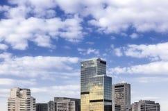 City. Modern city on background cloudy sky Stock Photography