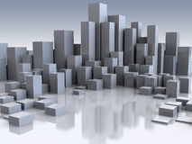 City. Abstract 3d illustration of city buildings background vector illustration