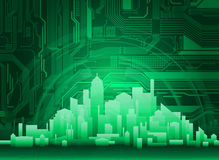 City. Abstract modern, technological city theme background. Eps 10 vector Royalty Free Stock Image