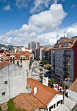 City. View of a city with a cloudy sky background. Seen in Pontevedra, Spain Royalty Free Stock Images