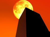 The City 24. This is a simple city cityscape Royalty Free Stock Images