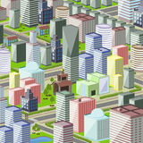 City. Illustration of a modern city with high Royalty Free Stock Photography