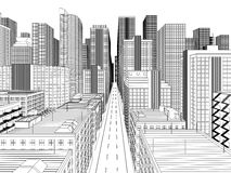 City. Vector illustration of city. 8 eps Royalty Free Stock Images