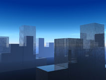 The City 25. This is a simple city cityscape Royalty Free Stock Image