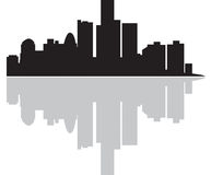 City. A Cities skyline as an illustration. Also in .ai file stock illustration