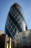 The City. The Gherkin in London from the street Royalty Free Stock Photos