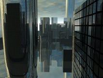 City 41. This is a futuristic cityscape Stock Photo
