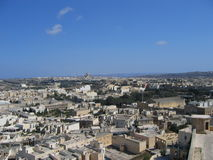 City. A view from the top of Victoria, Gozo, Malta royalty free stock photo