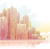 City. Vector image with nice city Royalty Free Stock Photos