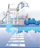 City. Vector image with nice city Royalty Free Stock Photo