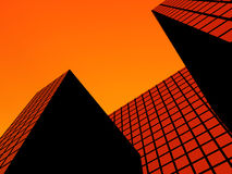 The City 55. This is a simple office building Stock Images