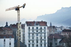 Grenoble cityscape  Stock Photography