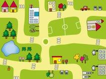 City. Illustration of fun cartoon cityscape