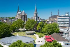 City of Aachen, Germany. Skyline of the City of Aachen, Germany royalty free stock photography