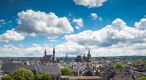 Aachen, Germany. City of Aachen, Germany during summer Royalty Free Stock Image