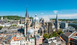 Aachen, Germany. City of Aachen, Germany during summer Royalty Free Stock Photo