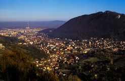 City from above. Brasov city seen from above Stock Photos