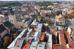 City from above Royalty Free Stock Images