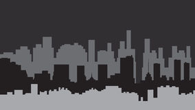 City. Abstract, depicting a silhouette that embodies modern city Royalty Free Stock Photography