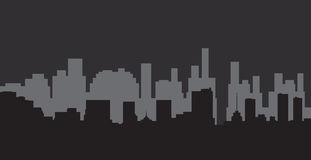 City. Abstract, depicting a silhouette that embodies modern city Royalty Free Stock Image