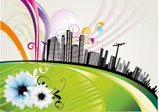 City abstract illustration Stock Photography