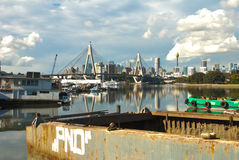 Anzac bridge City bay Royalty Free Stock Photography