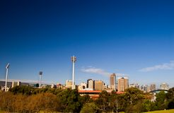 City of Adelaide. The City of Adelaide as seen from Montefiore Hill stock photo