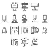 City advertisement flat line icons Royalty Free Stock Image