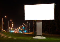 City advertising billboard royalty free stock photo