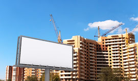 City advertising construction Royalty Free Stock Photography