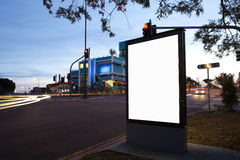 City advertising light boxes Royalty Free Stock Image