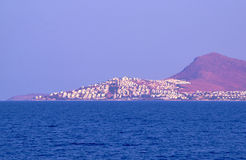 The city on the Aegean seashore Stock Image
