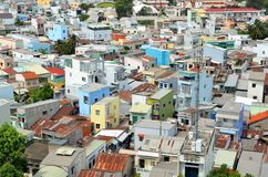 City aerial panoramic view of Can Tho. Vietnam Royalty Free Stock Image