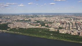 City Aerial, Urban, Neighborhoods, District. Stock video of a city aerial stock video footage