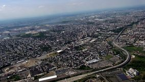 City Aerial, Urban, Neighborhoods, District. Stock video of a city stock video footage